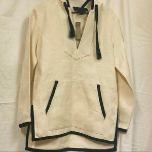 JCrew Hooded tunic b/w NWT